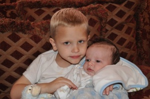 Our Youngest Grands Christian Bryan and Caison Judah (baby) and this makes it 13 Grands!!